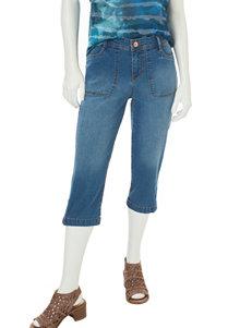Gloria Vanderbilt Dark Blue Capris & Crops