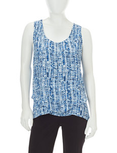 NY Collection Blue Camisoles & Tanks