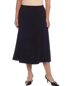 Alfred Dunner Petite Splice-Tiered Fit & Flare Skirt
