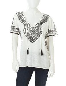 Signature Studio Ivory / Black Shirts & Blouses