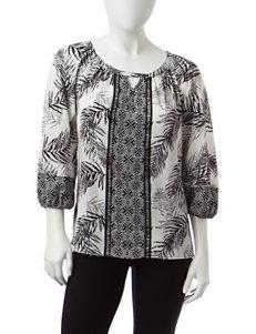 Figuero & Flower Black Shirts & Blouses