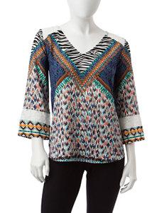 Figuero & Flower Blue Shirts & Blouses