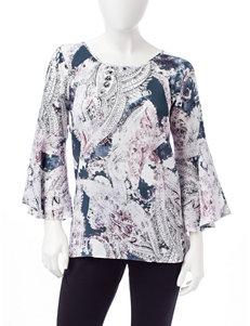 Zac & Rachel Grey Shirts & Blouses