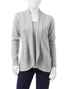 Rebecca Malone Petite Cashmelon Layered-Look Sweater