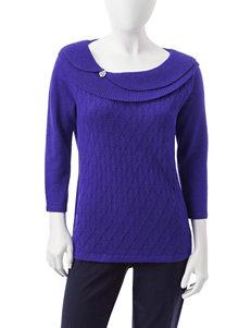 Rebecca Malone Petite Marilyn Lurex Sweater