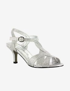 Easy Street Glamorous Glitter Dress Sandal