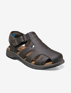 Nunn Bush® Ripley Brown Fisherman Sandals – Men's