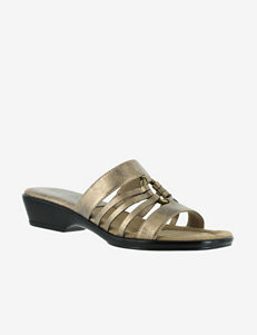 Easy Street Scorch Metallic Slide Sandals