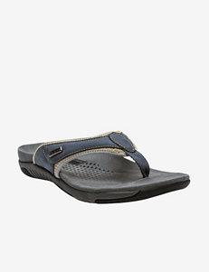 Propet Denim Blue Slide Sandals