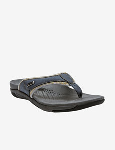 Propet Denim Blue Flip Flops