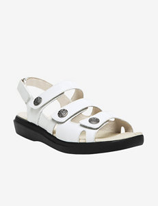 Propet White Flat Sandals Comfort