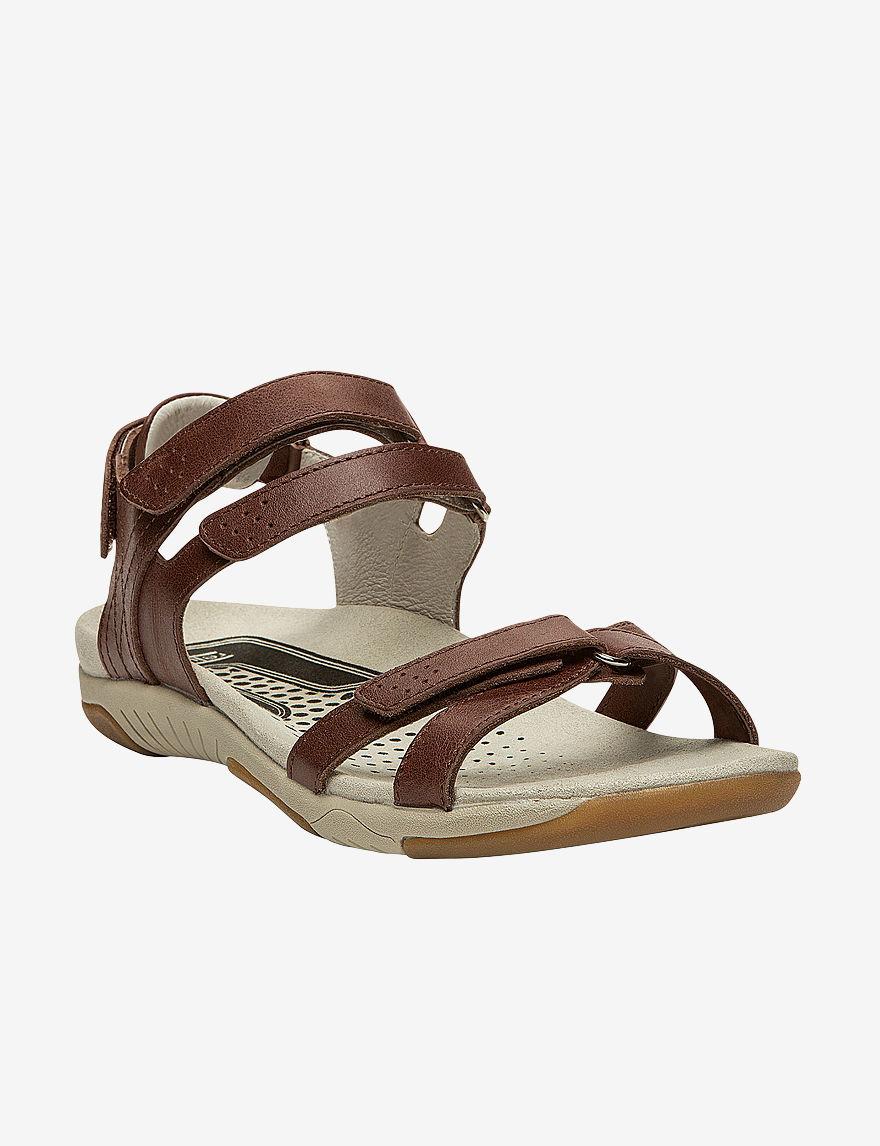 Propet Brown Flat Sandals Comfort