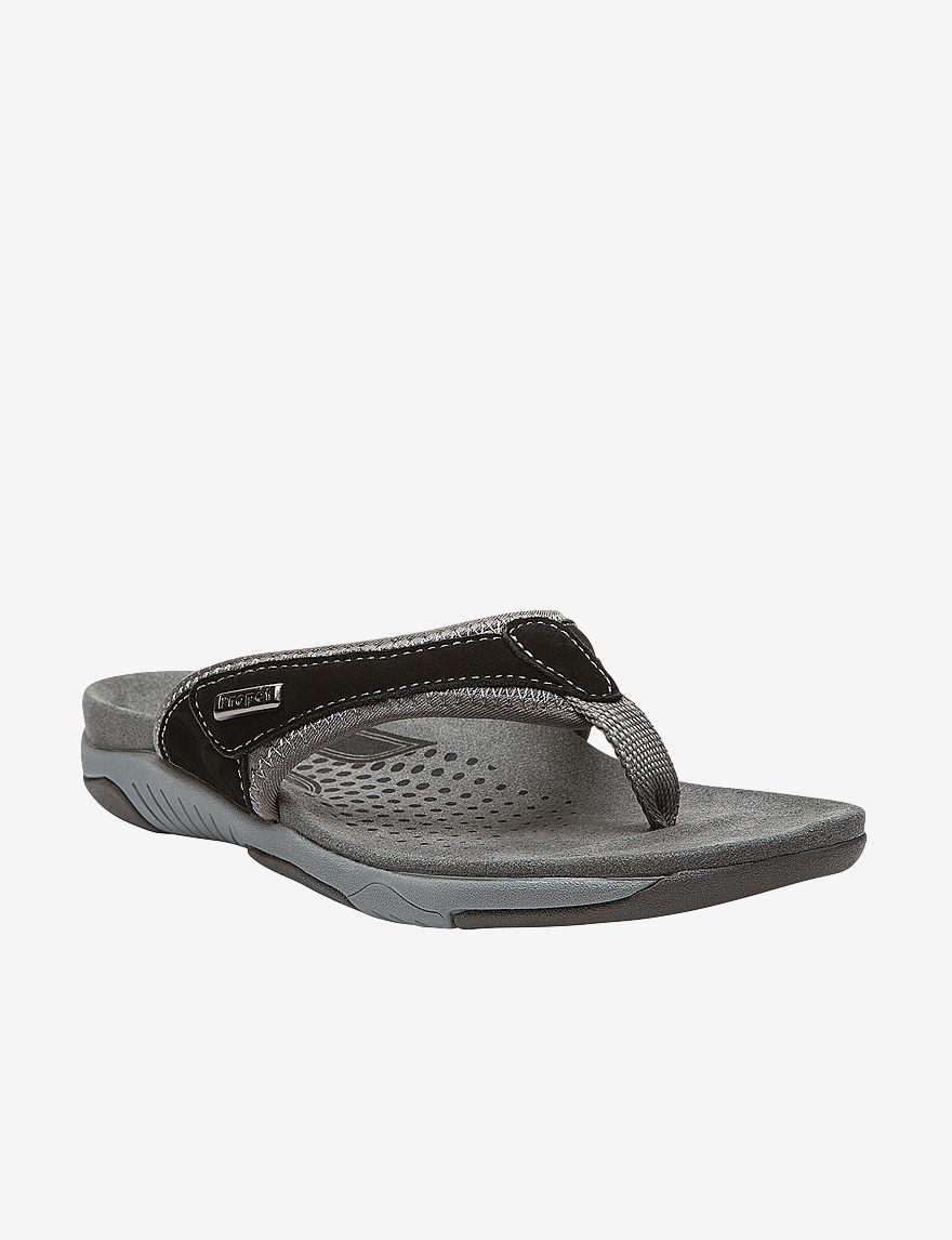 Propet Black Flat Sandals
