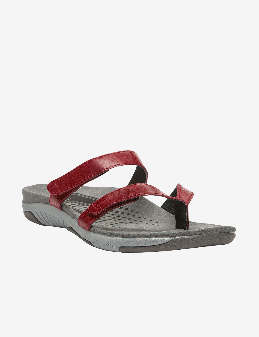 Propet Red Flat Sandals
