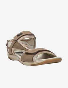 Propet Beige Flat Sandals Comfort