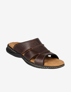 Dr. Scholl's Brown Slide Sandals