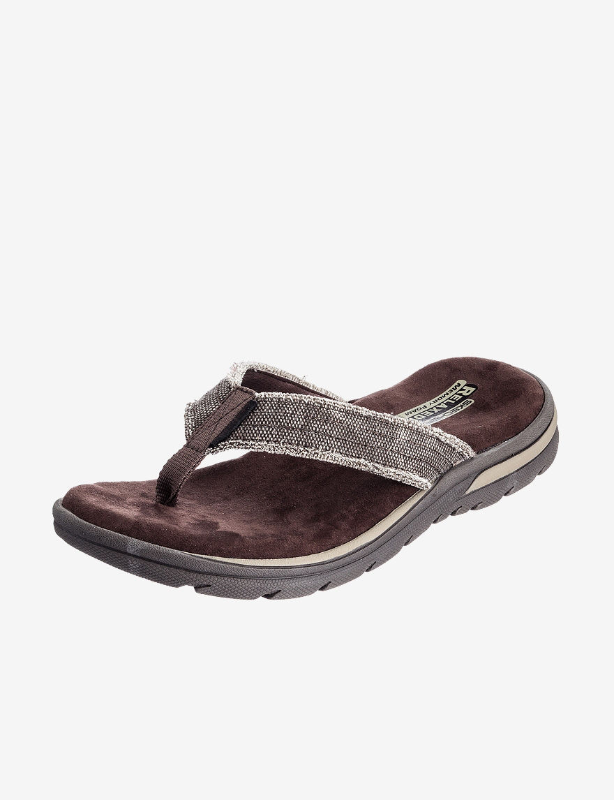 Skechers Chocolate Brown Flip Flops