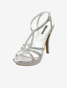 Unlisted Silver Heeled Sandals