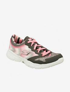 Skechers Grey / Pink