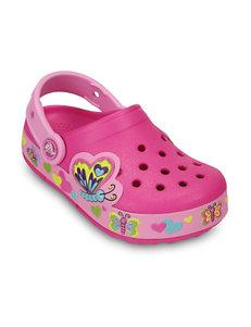 Crocs Pink Butterfly Clogs – Girls 8-1