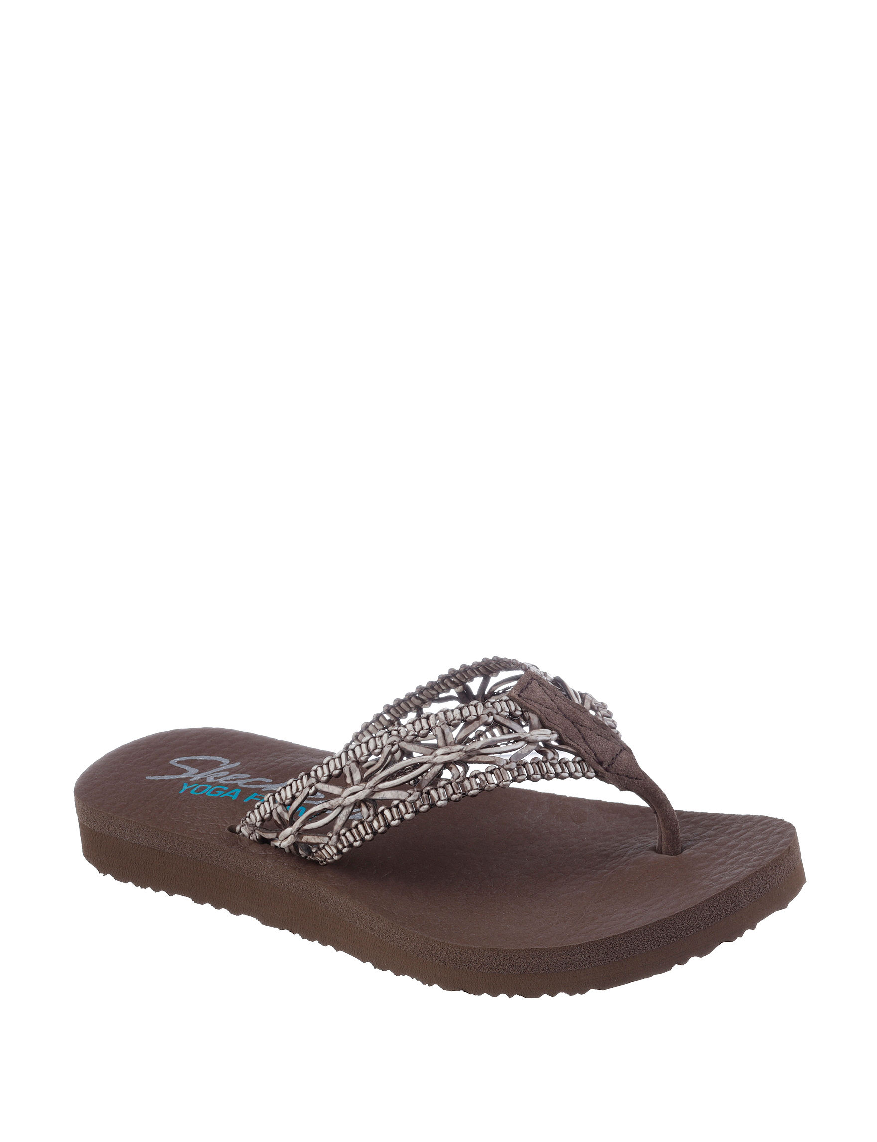 Skechers Brown Flip Flops