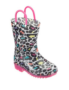 Capelli Leopard Print Rain Boots – Toddler Girls