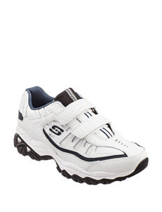Skechers White / Navy