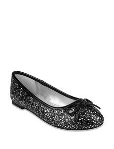 Rampage Glitzy Ballet Flat Shoes – Girls 11-5