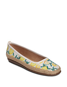 A2 by Aerosoles White Espadrille Sandals Comfort