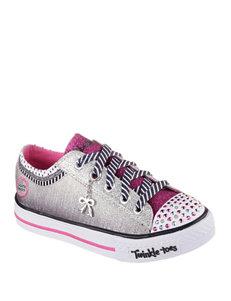 Skechers Silver / Pink
