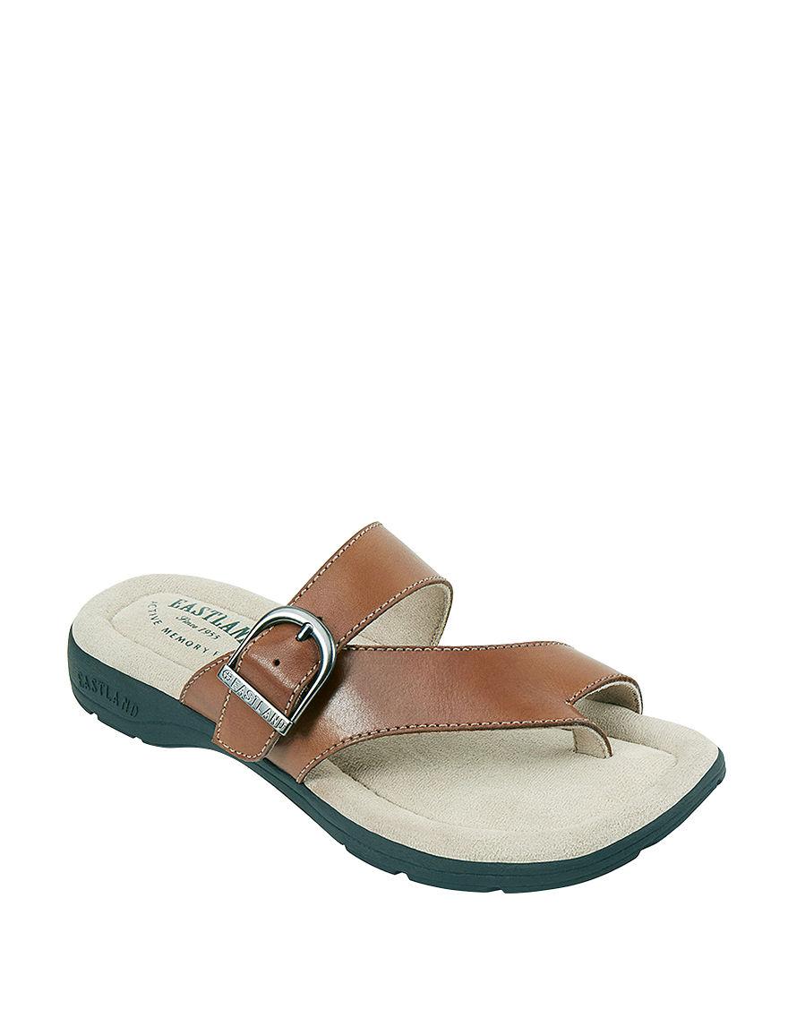 Eastland Tan Flat Sandals