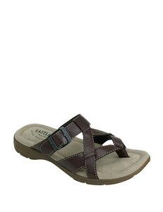 Eastland Brown Flat Sandals