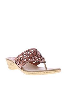 Spring Step Bright Orange Wedge Sandals