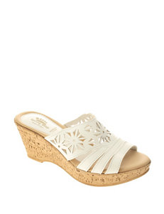 Spring Step White Wedge Sandals