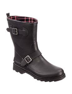 Dirty Laundry Black Rain Boots