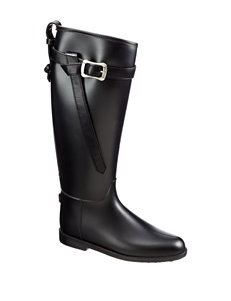 Dirty Laundry Black Rain Boots Riding Boots