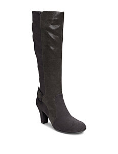 A2 by Aerosoles Black Riding Boots