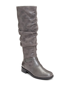 A2 by Aerosoles Grey Riding Boots
