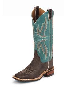 Justin Chocolate Puma Bent Rail Western Boots