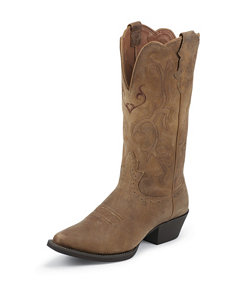Justin Tan Puma Stampede Western Boots