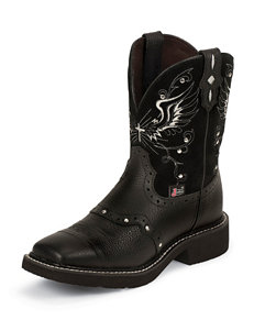 Justin Black Deercow Western Boots