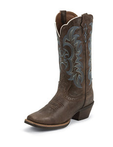 Justin Brown Kneaded Cowhide Western Boots