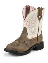 Justin Barnwood Brown Western Boots