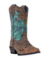 Dan Post Vintage Bluebird Cowboy Boots – Girls 3-6