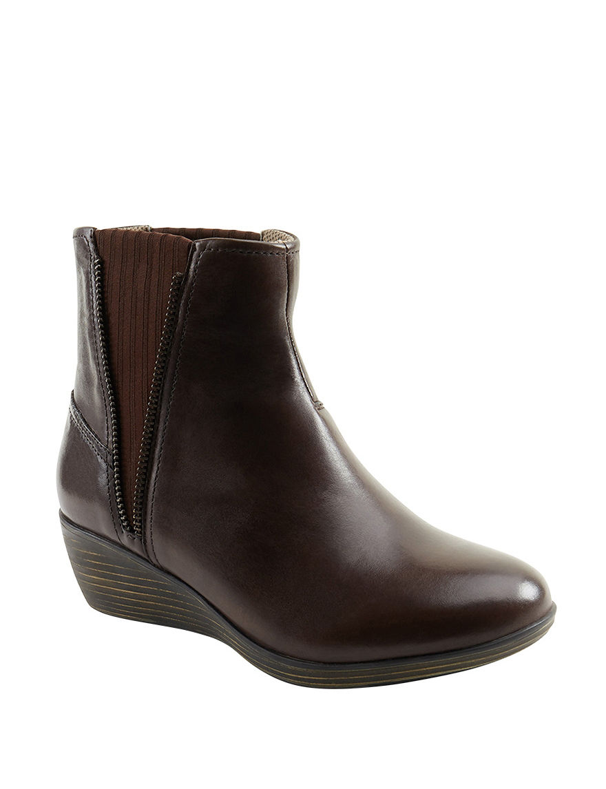Eastland Brown Wedge Boots