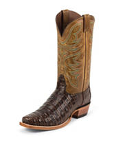 Nocona Chocolate Premium Caiman Western Boots