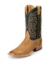 Nocona Antique Saddle Premium Ostrich Western Boots