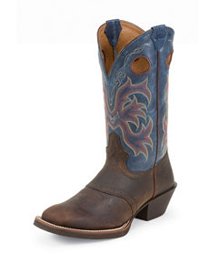Justin Rawhide With Saddle Western Boots