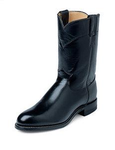 Justin Black Kipskin Western Boots