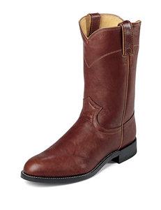 Justin Chestnut Marbled Deerlite Western Boots